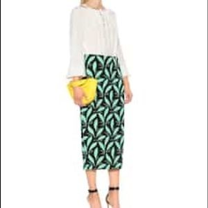 DVF Printed Midi Skirt